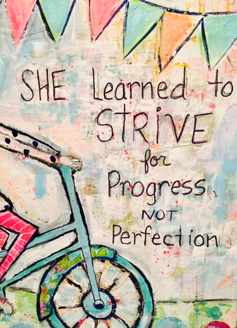 Image result for progress not perfection