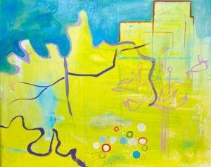 Rabarberdrømme 40 x 50 cm