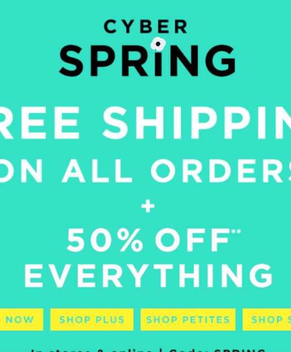 50% Off Loft (plus free shipping!)