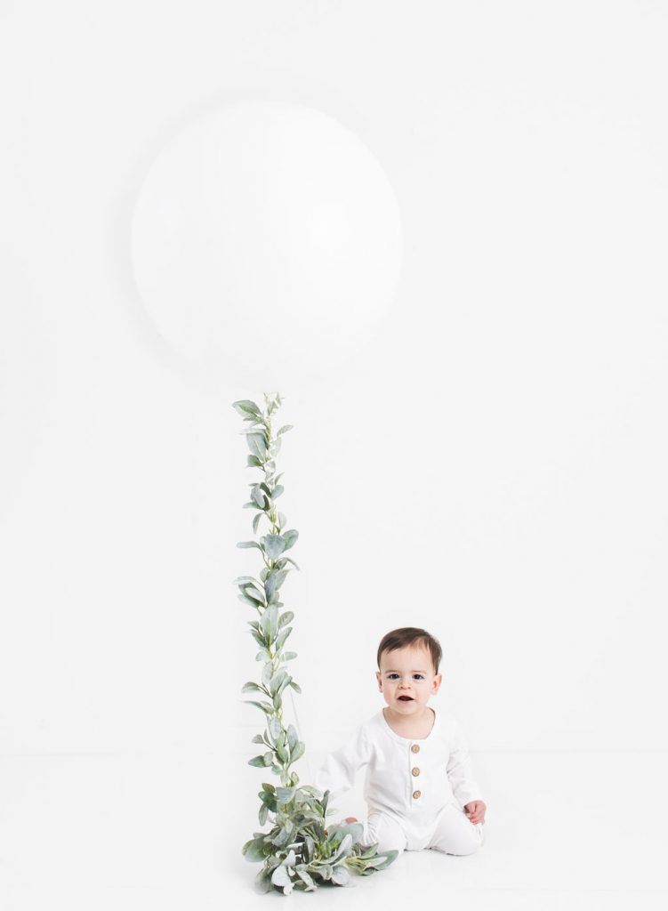 Baby boy with balloon, Kat E Photography