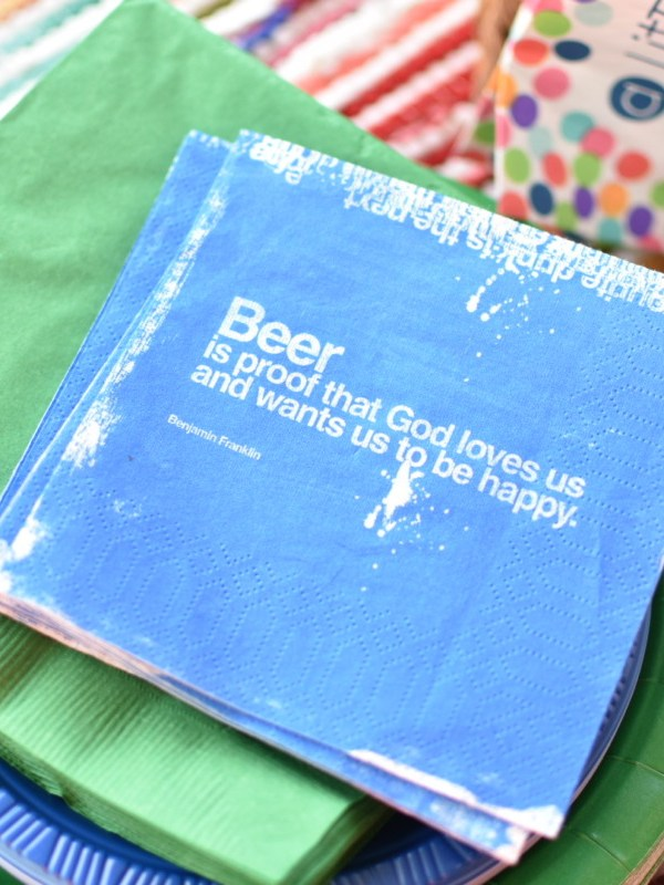 Beer cocktail napkins