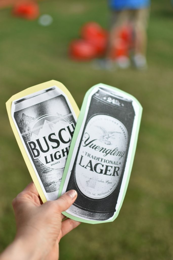 Beer-themed wedding shower game