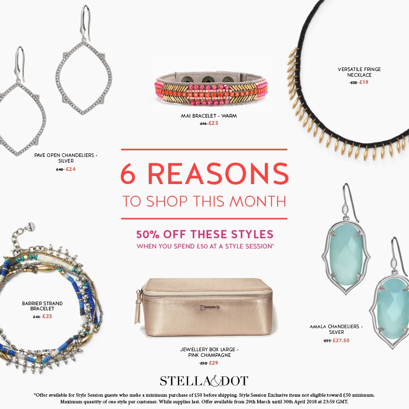 Style Session exclusive offers – April