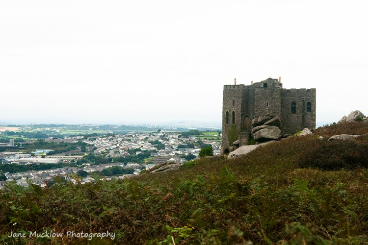 View from Carn Brea monument towards Illogan, Cornwall, by Jane Mucklow Photography