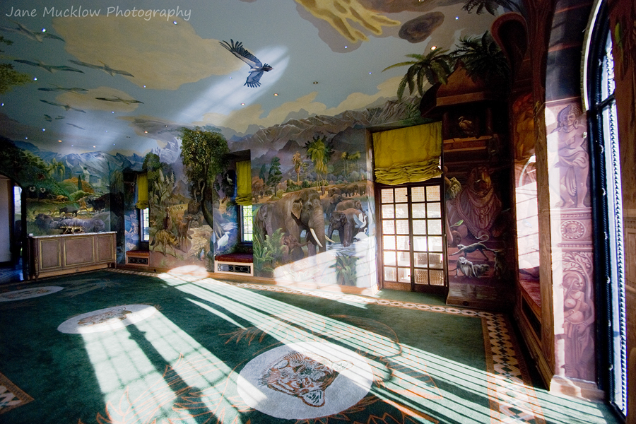 Photograph of one of the animal painted rooms at Port Lympne Hotel by Jane Mucklow
