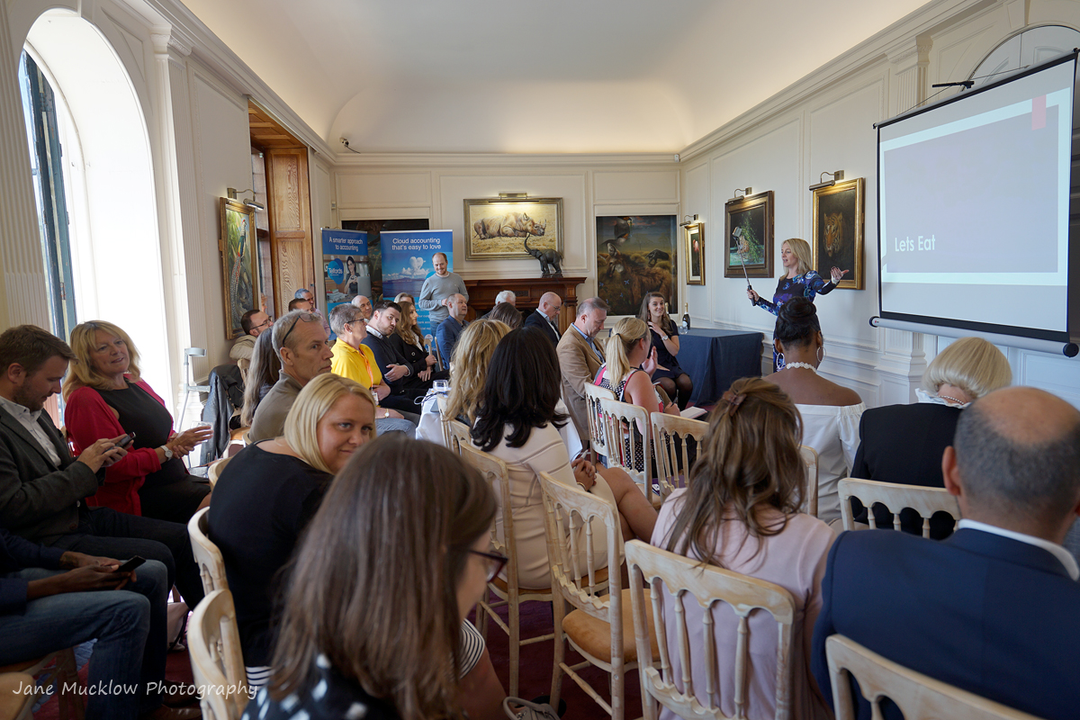 Photo of Amanda Flanders at the Networkers Networking event at Port Lympne, by Jane Mucklow