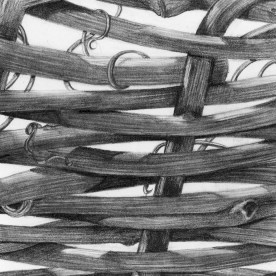 Texture Series, #6, graphite, 3x3 inches, SOLD