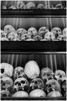 Skulls found at the Killing Fields