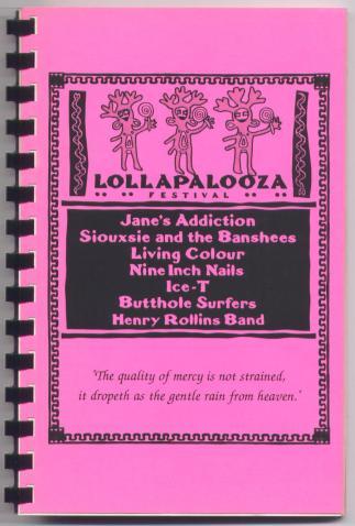 Lollapalooza 91 Tour Itinerary