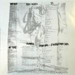 Jane's Addiction Vinyl Lyric Sheet Side 1