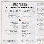 Nothing's Shocking Japanese Lyric Sheet