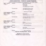 Strays Westwood One Album Premiere Cue Sheet