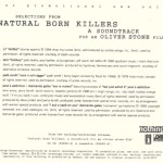 Natural Born Killers Promo Sampler Cover