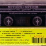 Methods of Mayhem Cassette Back