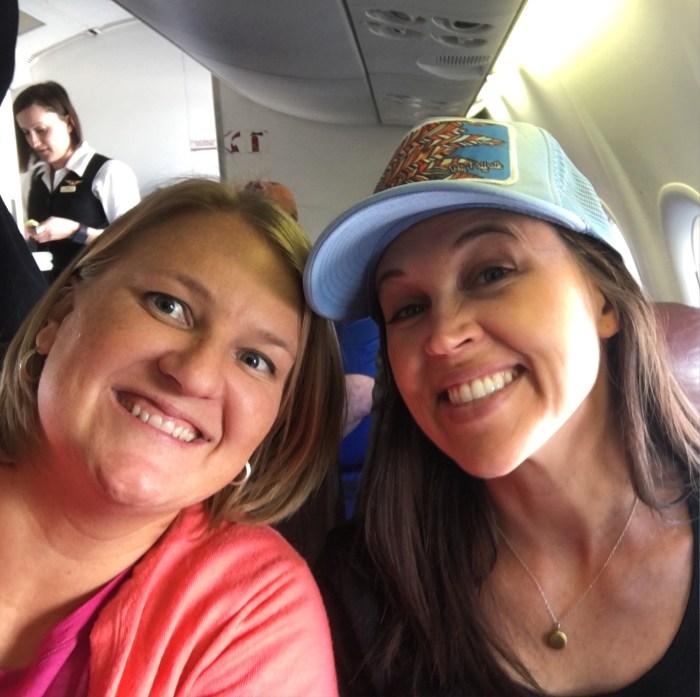 Two friends, airplane, Global Entry, TSA PreCheck