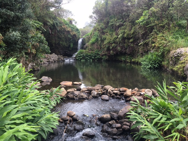 Private waterfall in Hawaii
