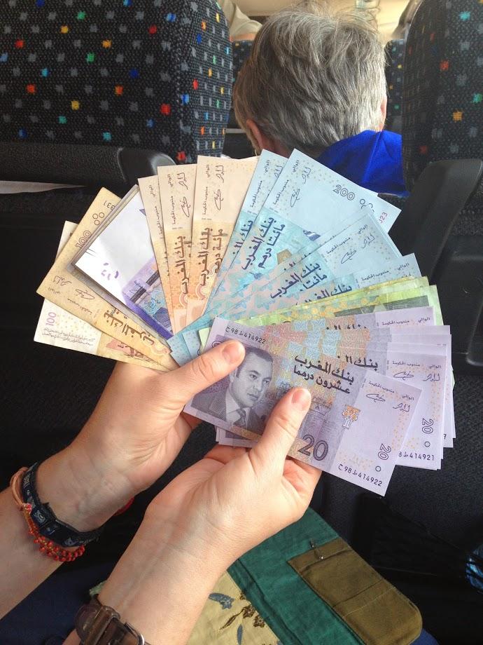 Moroccan cash, atm, first international trip