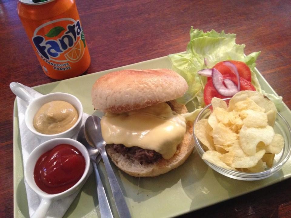 Bagel burger in Krakow Poland vacation travel food