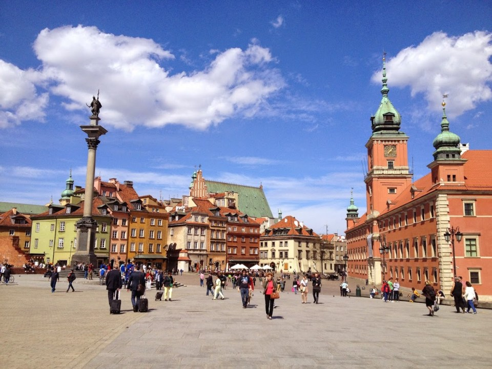 Old Town Warsaw Poland vacation travel