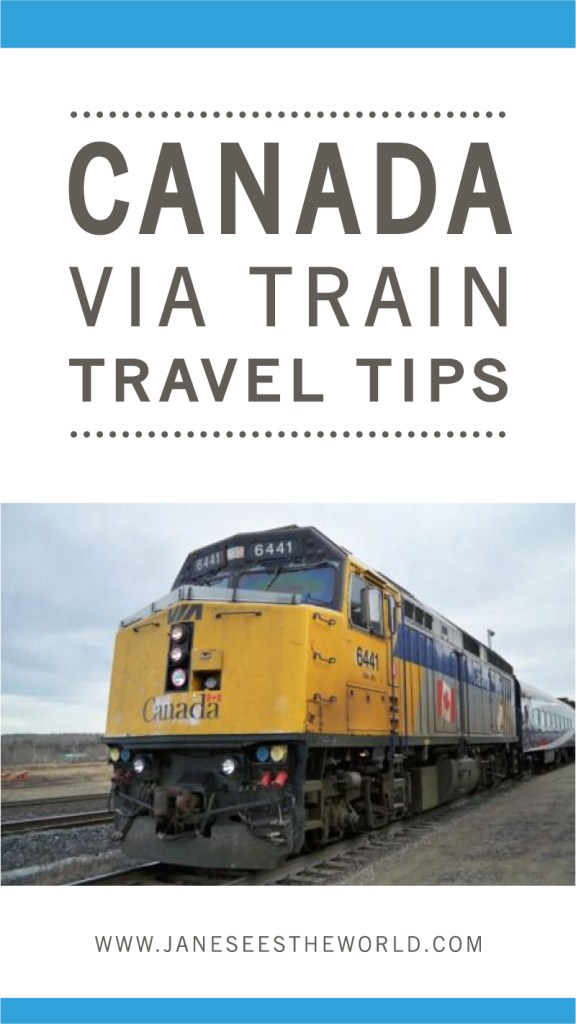 train travel tips for Canada women travelers vacation