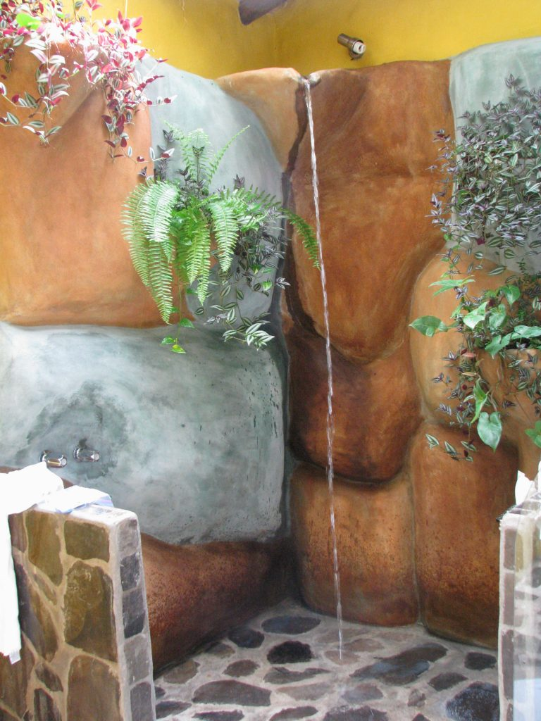 Jungle themed shower in Costa Rica