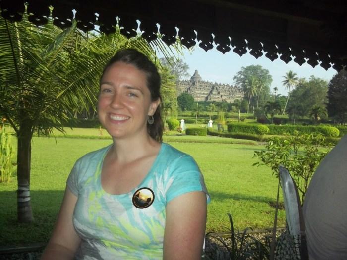 Breakfast Borobudur Indonesia tourists travel vacation