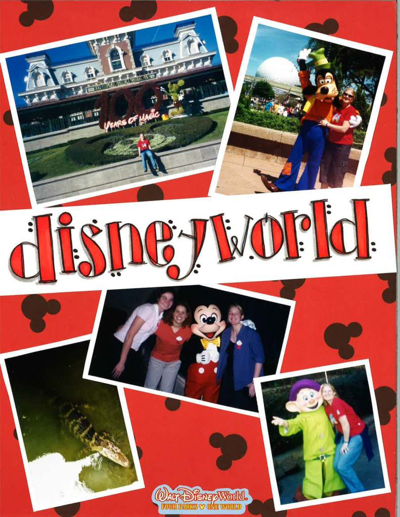 Disney World tourists travel vacation scrapbook