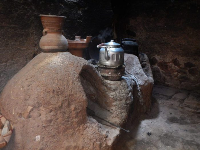 Primitive Cooking Stove in Morocco