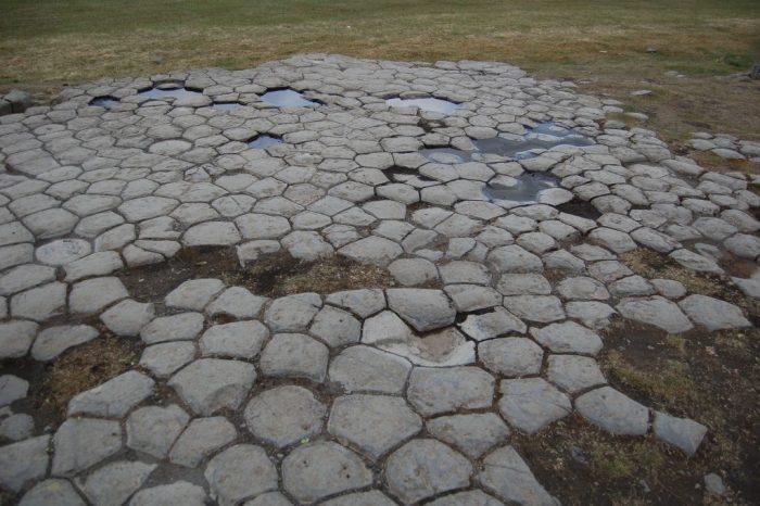 Iceland basalt columns