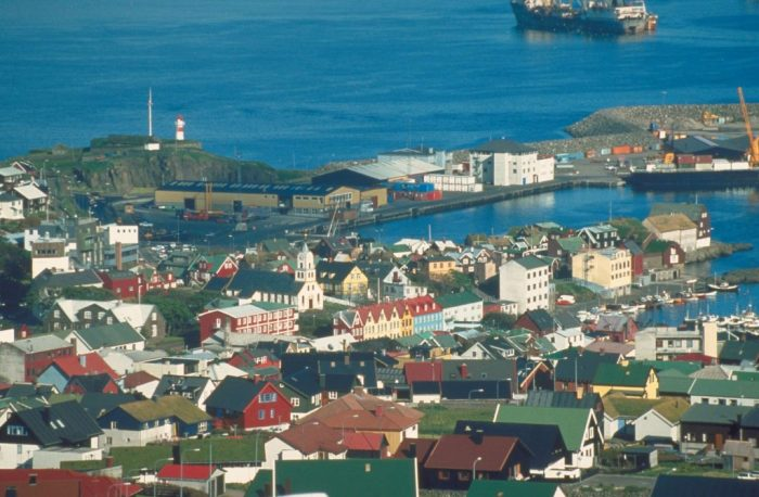 City bay in The Faroe Islands