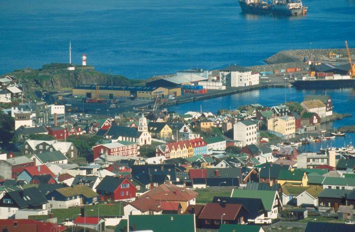 City bay in The Faroe Islands