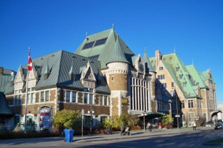Quebec Train Station train travel tips for Canada women travelers vacation VIA Rail