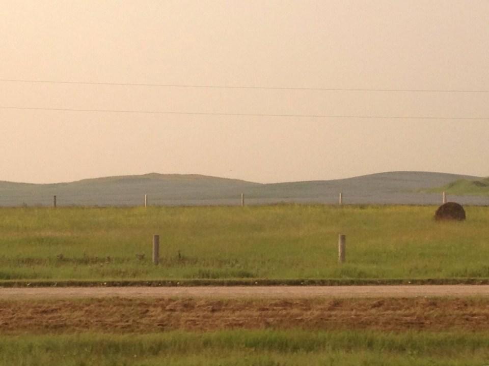 North Dakota, train travel, window views, farm