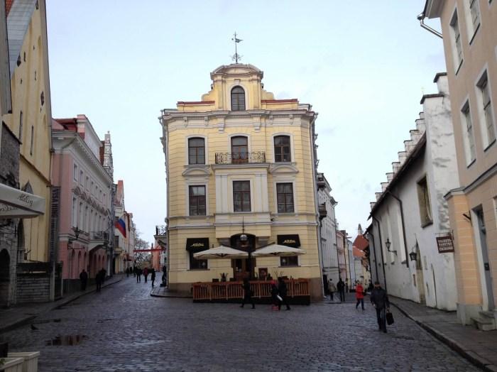 Maiasmokk Café in Tallinn, Estonia yellow building vacation travel