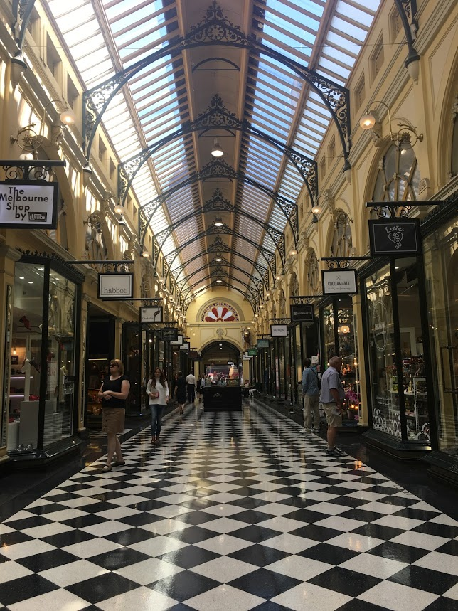 Arcade in Melbourne Australia travel tips vacation