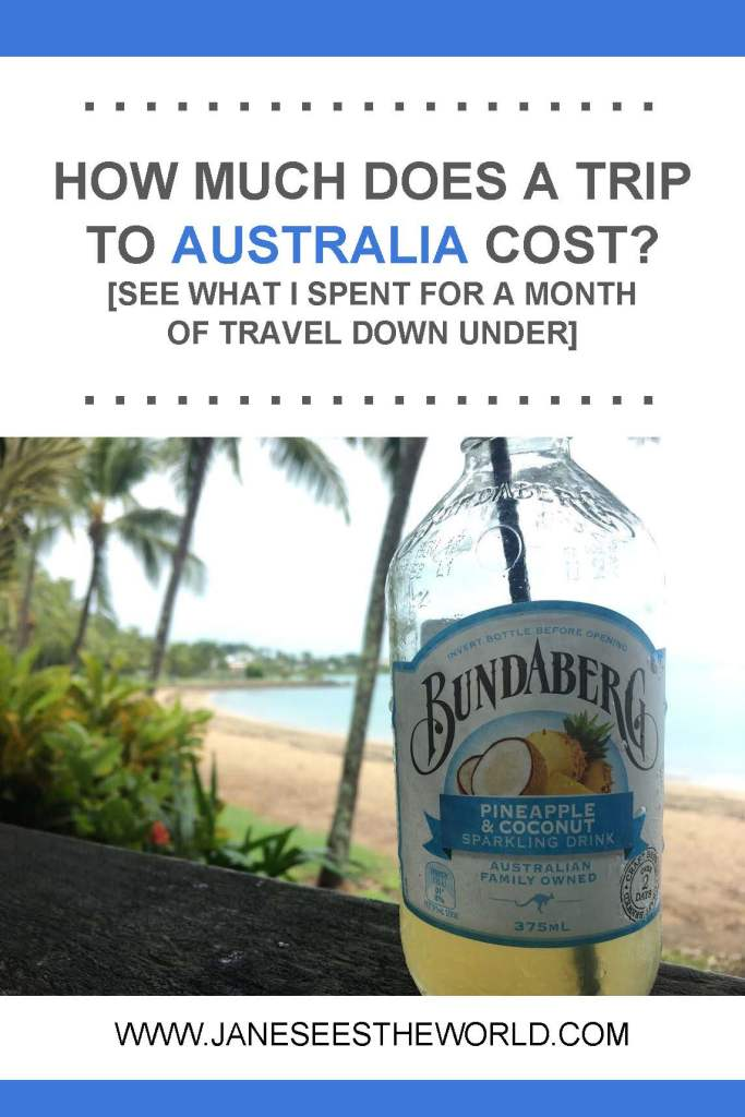 Australia travel costs vacation budget pinterest