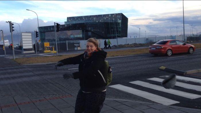 Wind blowing in Reyjkavik