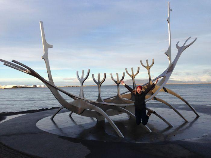 Viking Sculpture in Reykjavik