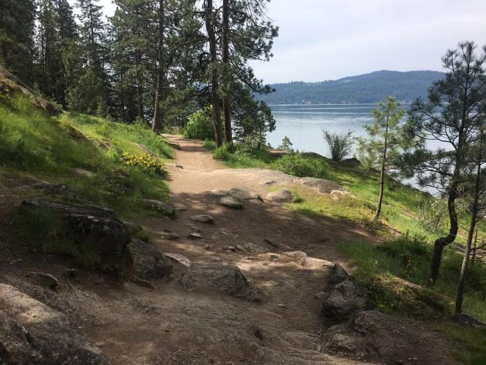 Tubbs Hill in Coeur d'Alene, Idaho, lake views