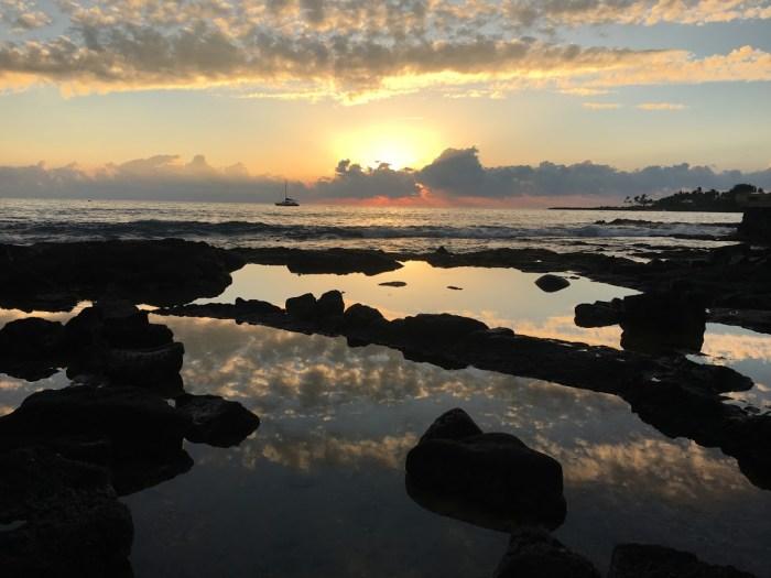 Sunset on the Big Island, Hawaii work-life balance vacation travel