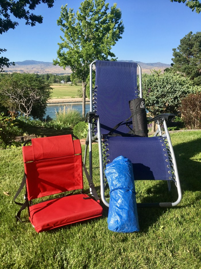 Summer music festival preparation seating options