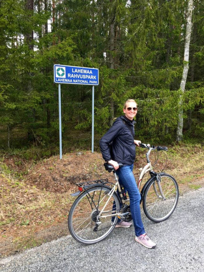 Biking in Estonia at Lahemaa National Park