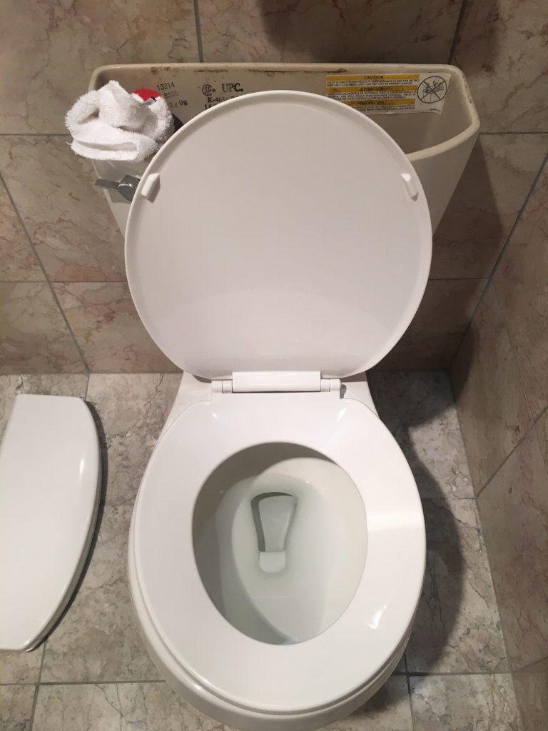 cheap hotel broken toilet washcloth fix casino Jackpot Nevada