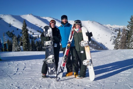 skiing snowboarding Sun Valley Idaho blue skies