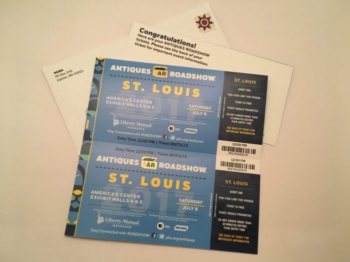 Antiques Roadshow tickets