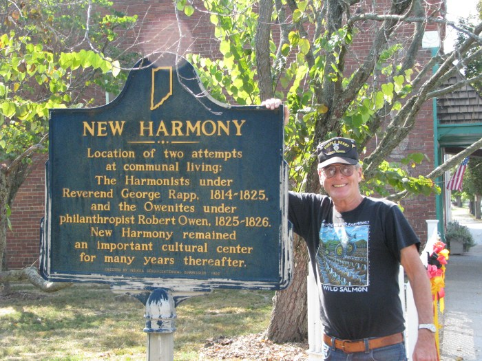 New Harmony Sign all 50 states club part 1 USA travel
