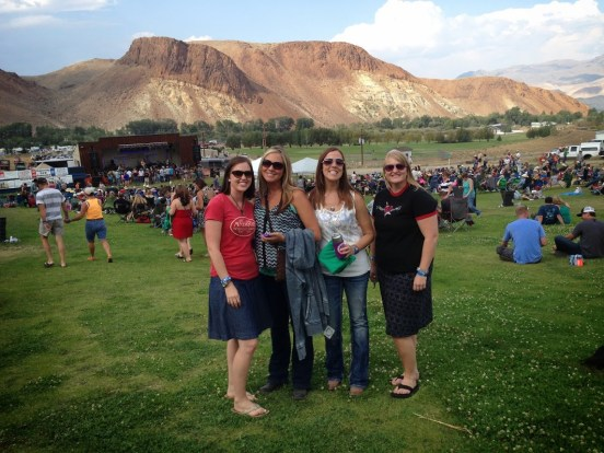Four gals at BBR in Challis, Idaho