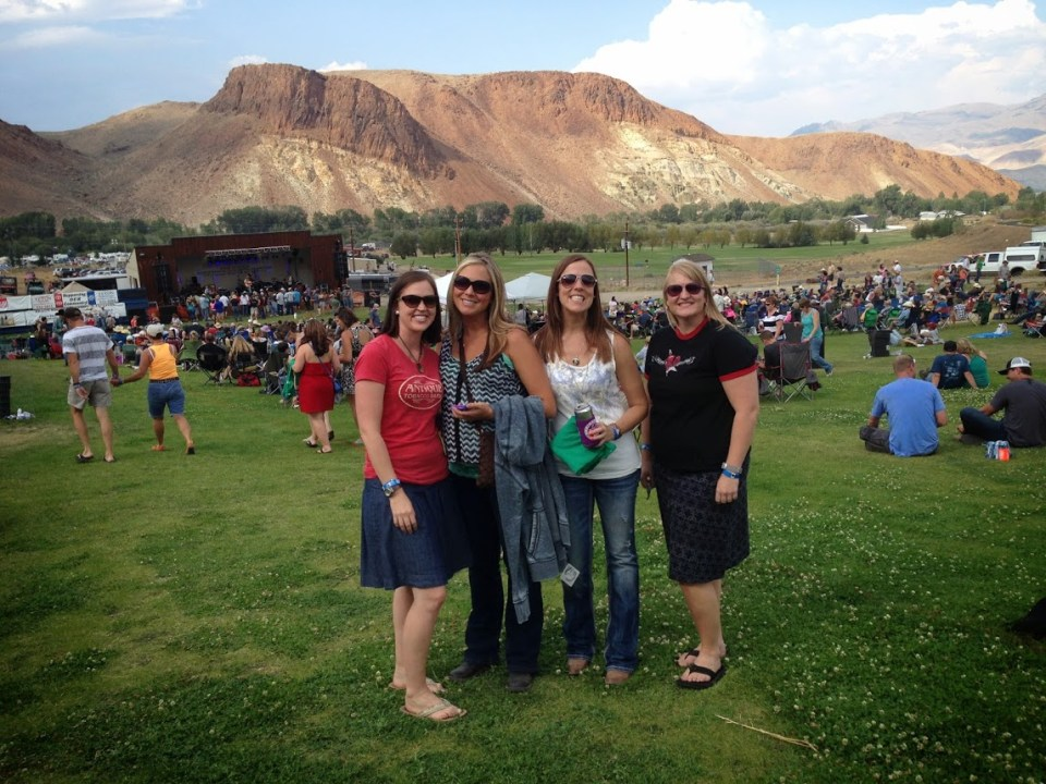 Four gals at BBR in Challis, Idaho, new life to old adventures