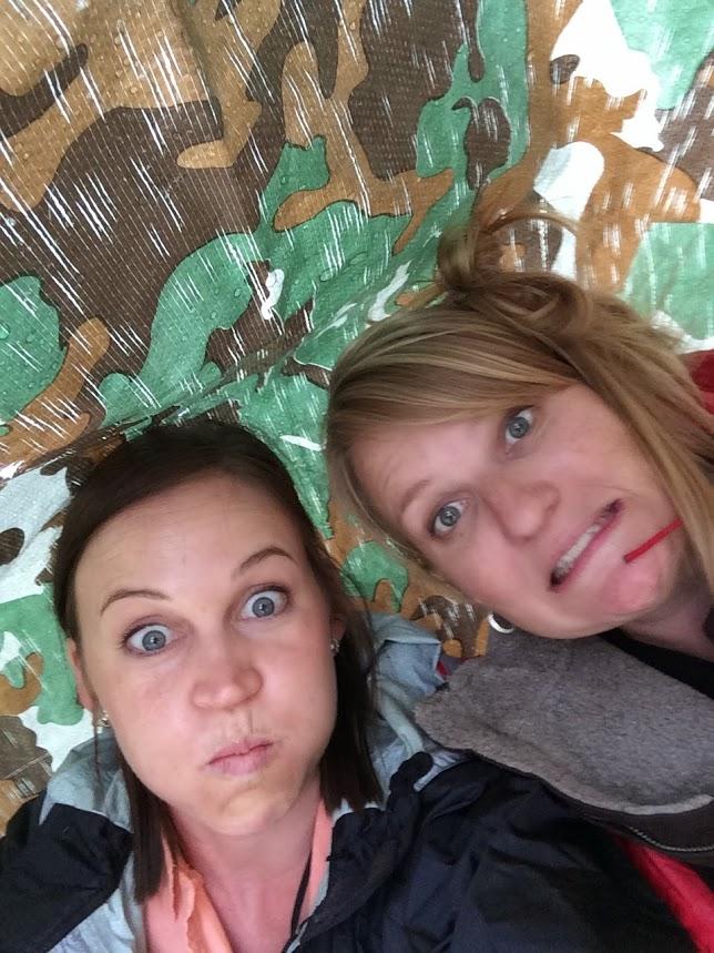 funny faces, rain, tarp, BBR, Challis, Idaho