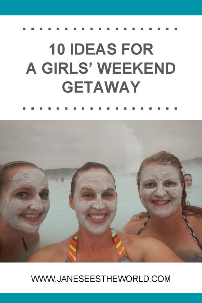 girls' weekend, blue lagoon, Iceland